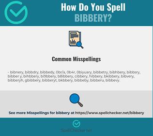 Correct spelling for bibbery