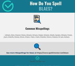 Correct spelling for blaes