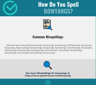 Correct spelling for bowyangs