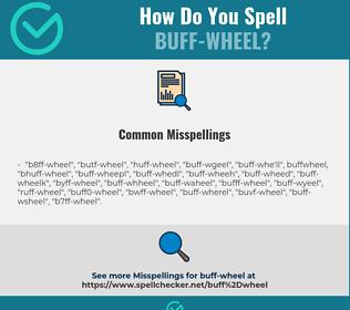 Correct spelling for buff-wheel