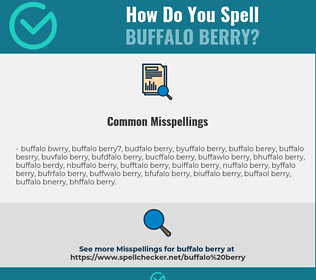 Correct spelling for buffalo berry