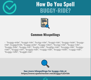 Correct spelling for buggy-ride