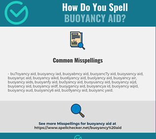 Correct spelling for buoyancy aid
