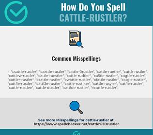 Correct spelling for cattle-rustler