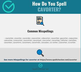 Correct spelling for cavorter