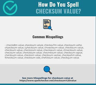 Correct spelling for checksum value