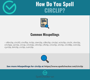 Correct spelling for circlip