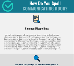 Correct spelling for communicating door