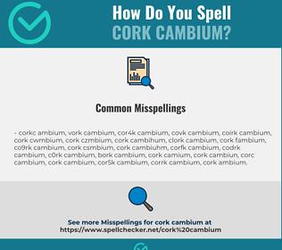 Correct spelling for cork cambium