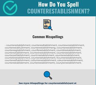 Correct spelling for counterestablishment