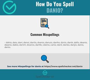 Correct spelling for danio