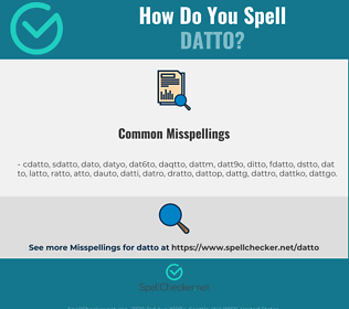 Correct spelling for datto