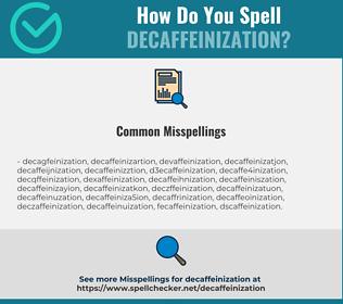Correct spelling for decaffeinization