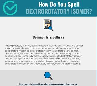 Correct spelling for dextrorotatory isomer