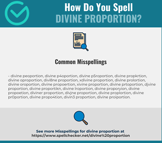 Correct spelling for divine proportion