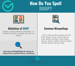 Correct spelling for doup