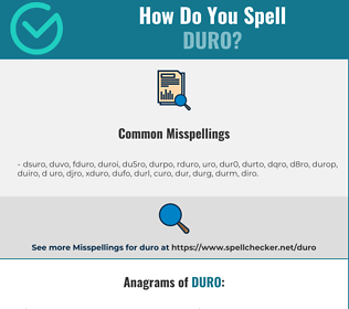 Correct spelling for duro