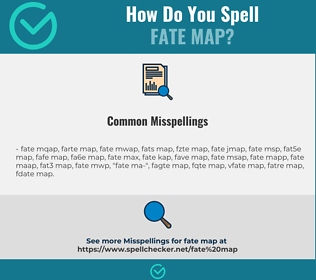 Correct spelling for fate map