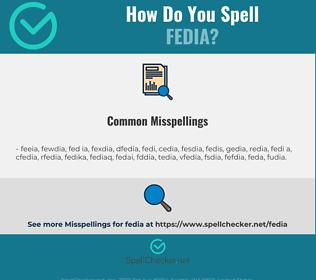 Correct spelling for fedia