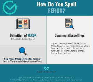 Correct spelling for ferox