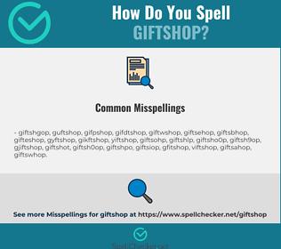 Correct spelling for giftshop