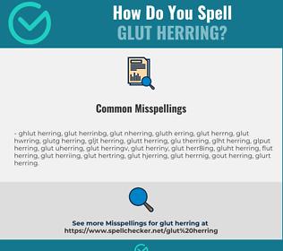 Correct spelling for glut herring