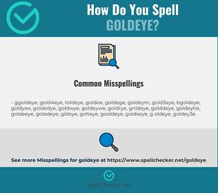 Correct spelling for goldeye