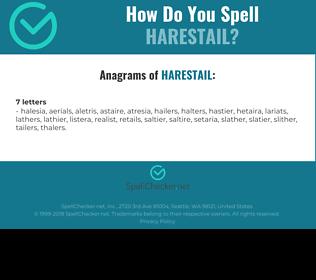 Correct spelling for harestail