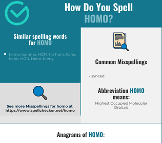 Correct spelling for homo