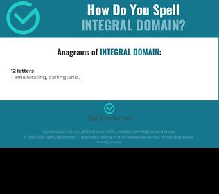 Correct spelling for integral domain
