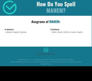 Correct spelling for mahem