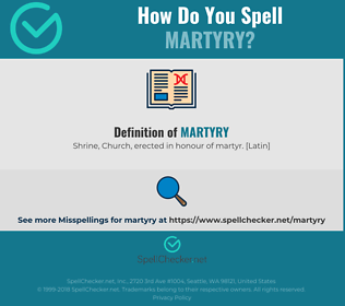 Correct spelling for martyry