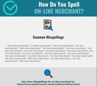 Correct spelling for on-line merchant