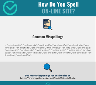 Correct spelling for on-line site