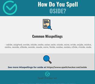 Correct spelling for oside