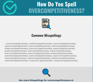 Correct spelling for overcompetitiveness