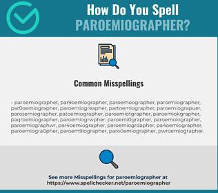 Correct spelling for paroemiographer