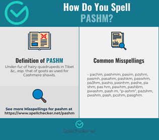Correct spelling for pashm
