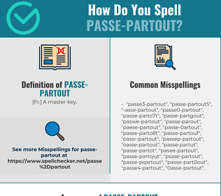 Correct spelling for passe-partout