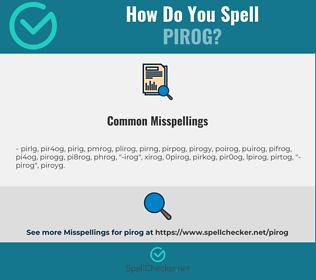 Correct spelling for pirog