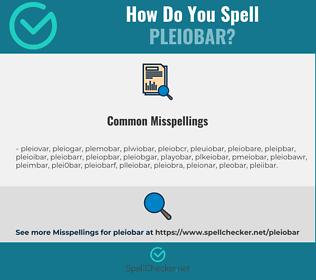 Correct spelling for pleiobar