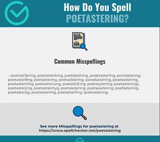 Correct spelling for poetastering