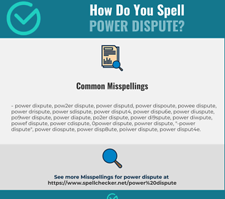 Correct spelling for power dispute