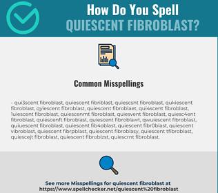 Correct spelling for quiescent fibroblast