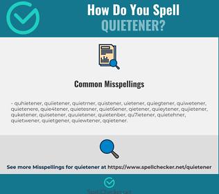 Correct spelling for quietener