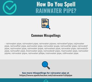 Correct spelling for rainwater pipe