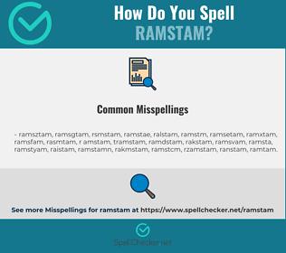 Correct spelling for ramstam