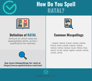 Correct spelling for ratal
