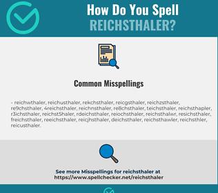 Correct spelling for reichsthaler