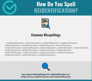Correct spelling for reidentification